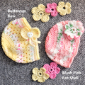 Crocheted Baby Girl Beanies/Hats