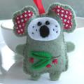 Australian Koala - Felt Christmas Ornament Decoration - Australian Animal