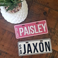 PERSONALISED MINI NUMBER PLATE | NOVELTY LICENSE PLATE