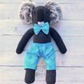 'Bert' the Sock Koala - turquoise, green & blue - *MADE TO ORDER*