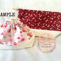 Made to order : Japanese Traditional Kinchaku Pouches