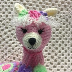 Llama: READY TO POST, Crochet Toy, Girl Gift