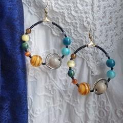 Full Orbit Earrings - colours of the universe