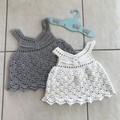 Crochet Cotton Baby Girl Vintage Dress, http://monpetitviolon.com/ design,