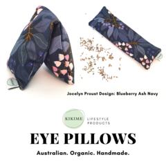 KIKIME Eye Pillows - Design: Blueberry Ash Navy