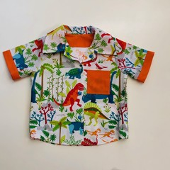 Gorgeous toddler's summer shirt, with dinosaur design
