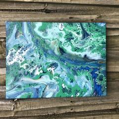 A Q U A M A R I N E - Acrylic on canvas (30x40cm)