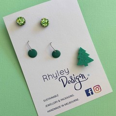 Christmas Earring  & Brooch Gift Set