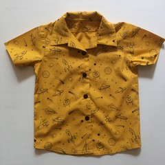 "Boy's ""Spaceship"" short sleeved shirt"