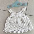 Crochet 100% Cotton Baby Girl Boho Vintage Dress,handmade 💕