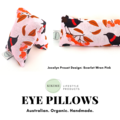 KIKIME Eye Pillows - Design: Scarlet Wren Pink