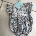 Baby Girl Romper, Hand Sewn