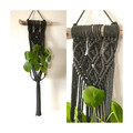 Macrame plant hanger (dark grey)