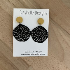Holey Irregular Circle Dangle with Mustard Top