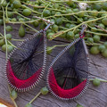 Colourful Thread Earrings - multiple variations