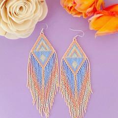 MADE TO ORDER Handmade 12cm long drop earrings