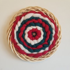 MADE TO ORDER Hand woven wall hanging - rattan wreath
