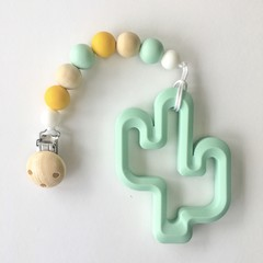 Silicone and Wooden Dummy Chain with optional teether