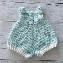Baby Crochet Romper, http://monpetitviolon.com/