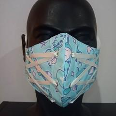 Corset Face Mask - Bubblegum Blue