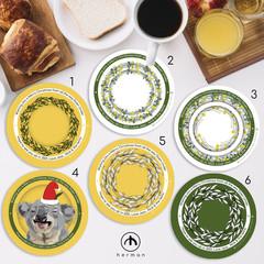Customisable - Hardwood Coasters - Circular - Australian Theme