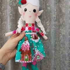 Sugar-Plum elf doll, handmade christmas doll