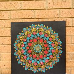 Dot Panting Mandala on Canvas - Never Too Late.