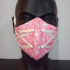 Corset Face Mask - Cupcake Pink