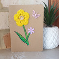 Hand Drawn Card - Spring Crochet