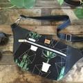 Hip/waist/bum Bag - Cactus/Black Faux Leather