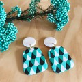 Ada Statement Earrings in Jade Carnival