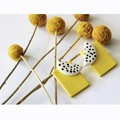 Yellow Rectangles Studs