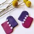 Purple Arcs hoops