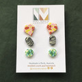 Assorted Stud Pack - 3 Pairs - 09