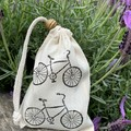 Block printed pouch | Bicycle
