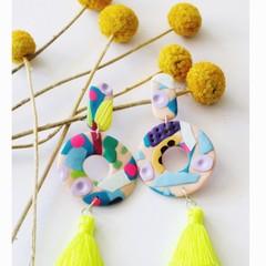Chaos Large Ring drop  earrings