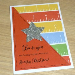 Teacher thank you Christmas card - 3 styles