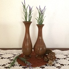 Two Vase Style Paperbark Weed Pots (PB 024.  025)
