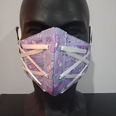 Corset Face Mask - Lollipop Purple