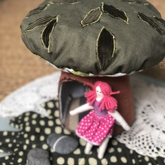 Tree fairy house OOAK upcycled