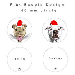 PRINT to Flat Plastic Bauble - PRINT ONLY - Excluding Illustration