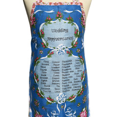 Metro Retro WEDDING ANNIVERSARIES Vintage Tea Towel Apron.