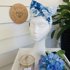 Wire Headband - Royal Blue Floral