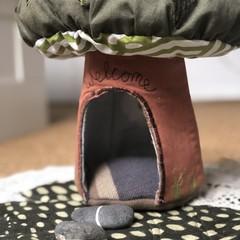 Tree fairy house OOAK upcycled
