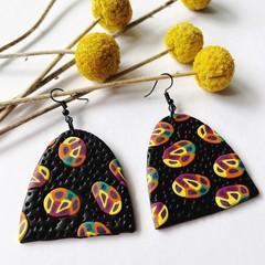 Dancehall XL drop earrings