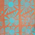 Sun print 'gyoza' style tote bag