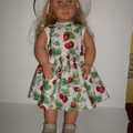 Dolls clothes for Baby Born and Our Generation doll a dress and hat set