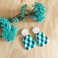 Ada Statement Earrings in Jade Carnival