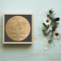 Custom Birth Memory Plaque - Bamboo & Birch coloured frame
