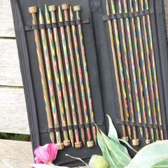 """Knitting needle set 25"""". * Pairs of Beautiful wood needles by Knit Pro"""